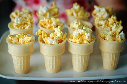 The Olympic Games Party Treat Ideas: Popcorn Torch via Ashley Hackshaw / lilblueboo.com