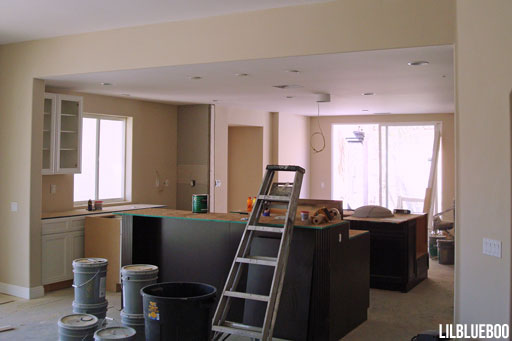 The Before Photos of our Kitchen makeover - Renovating old 1970's kitchen via Ashley Hackshaw / Lil Blue Boo