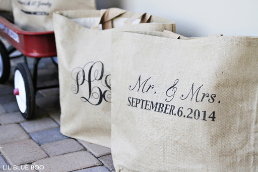 Great gift idea for a bride and groom or for your out of town wedding guests via Ashley Hackshaw / lilblueboo.com