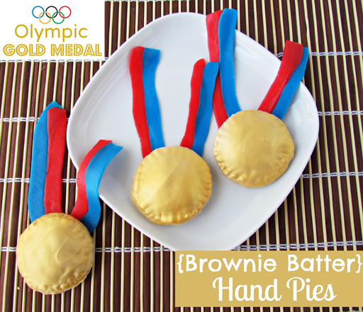 The Olympic Games Party Treat Ideas: Gold Medal Hand Pies via Ashley Hackshaw / lilblueboo.com