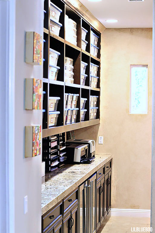 Kitchen Makeover / Renovation - Craft Storage (actually a Butler's Pantry)