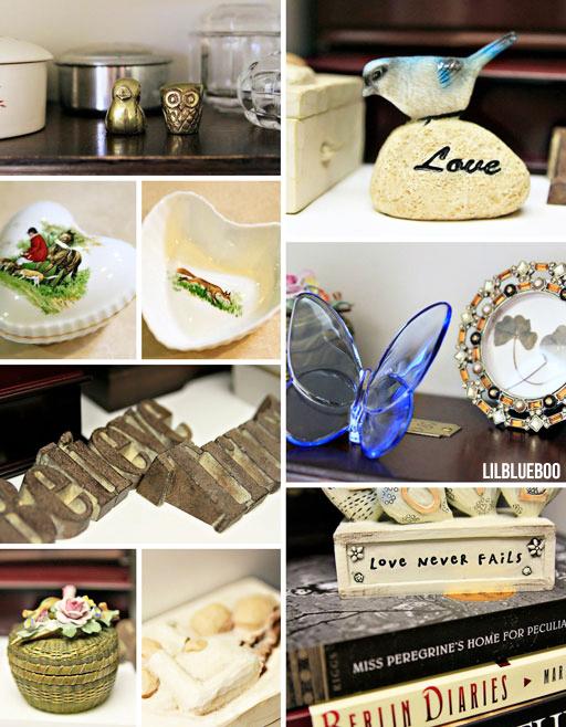 Organizing  tchotchkes and trinkets in my closet via lilblueboo.com