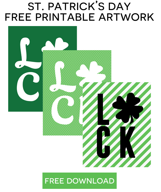 More free St. Patrick's Day Printables via lilblueboo.com