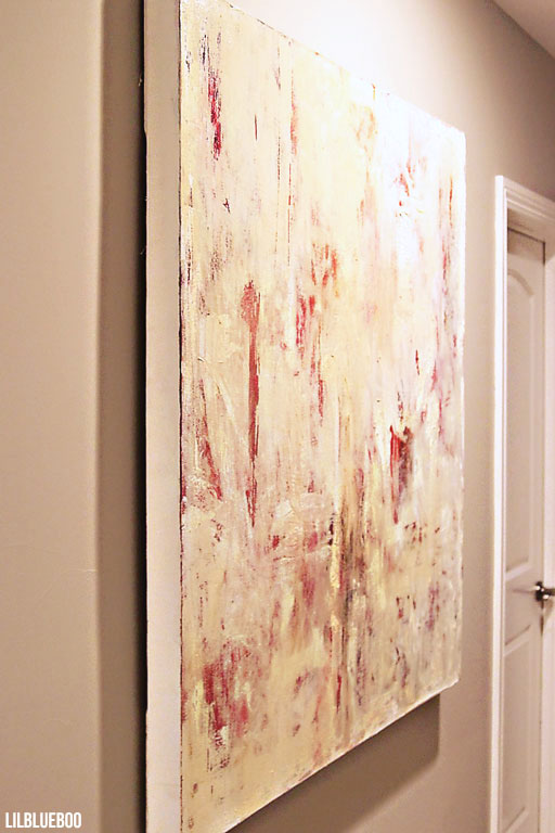 Abstract painting in the hallway (1 of 4 series) by Ashley Hackshaw  / Lil Blue Boo