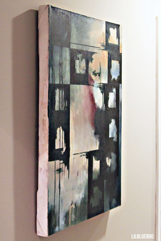 Abstract painting in the hallway by Ashley Hackshaw  / Lil Blue Boo