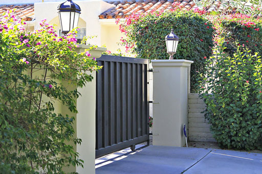 Automatic gate opener / iron driveway gate ideas