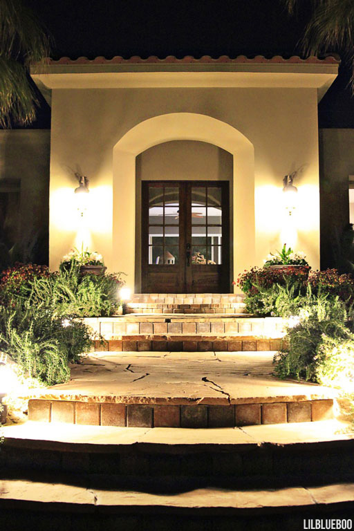 Home improvement landscape makeover . landscape lighting