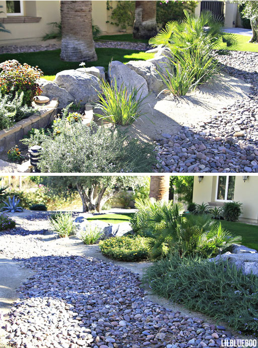 Before and After Garden Makeover Ideas, dry river bed