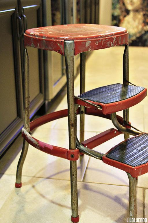 vintage step stool