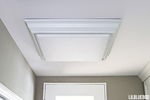 Crown Molding Flourescent Light for Laundry or Closet