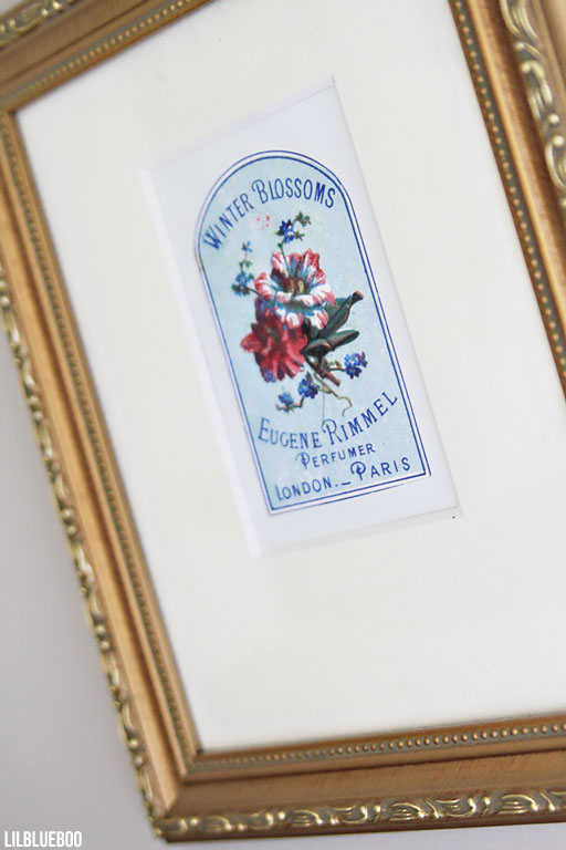 Laundry room wall art ideas - vintage soap labels