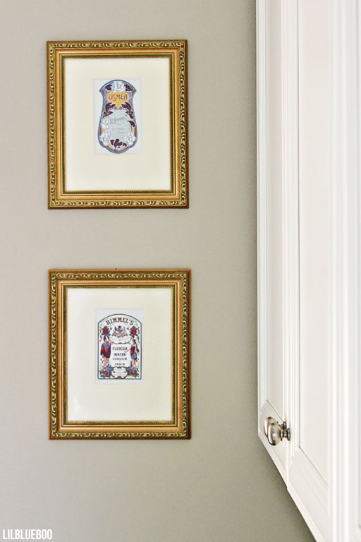 Laundry room art ideas - vintage soap labels