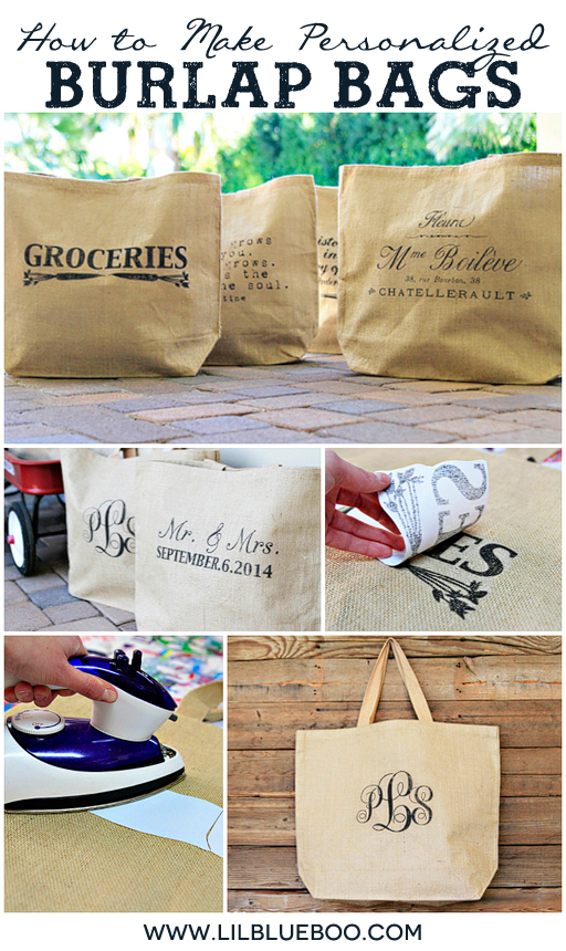 How to Make Personalized Burlap Bags