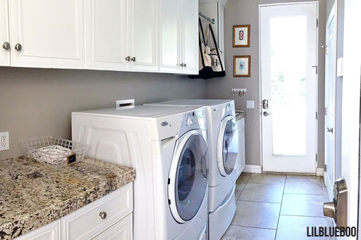 Laundry room makeover ideas - Granite Matches kitchen