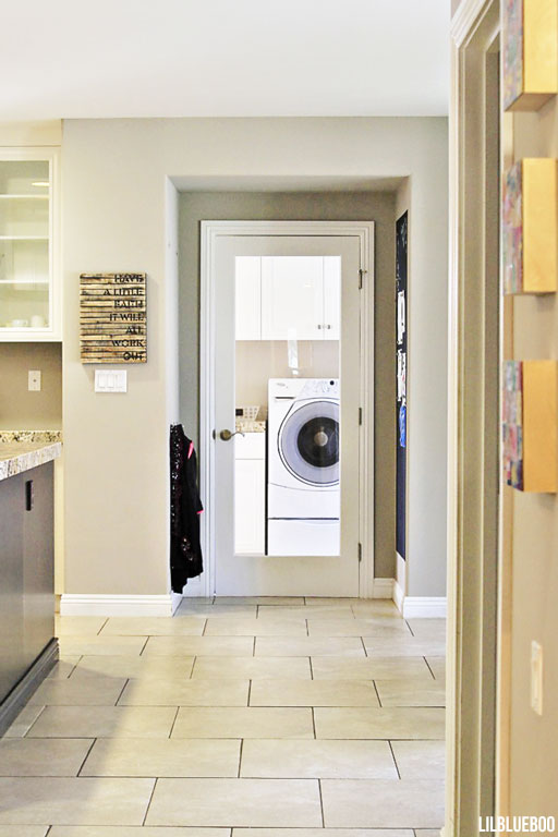 Our Kitchen Renovation / Makeover - The Laundry Room Door