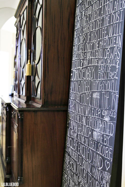 Large DIY Chalkboard Art