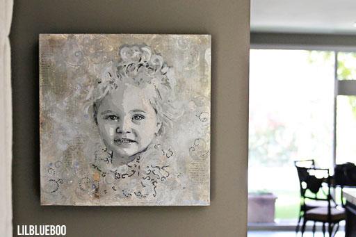 Children's portraits using layering technique
