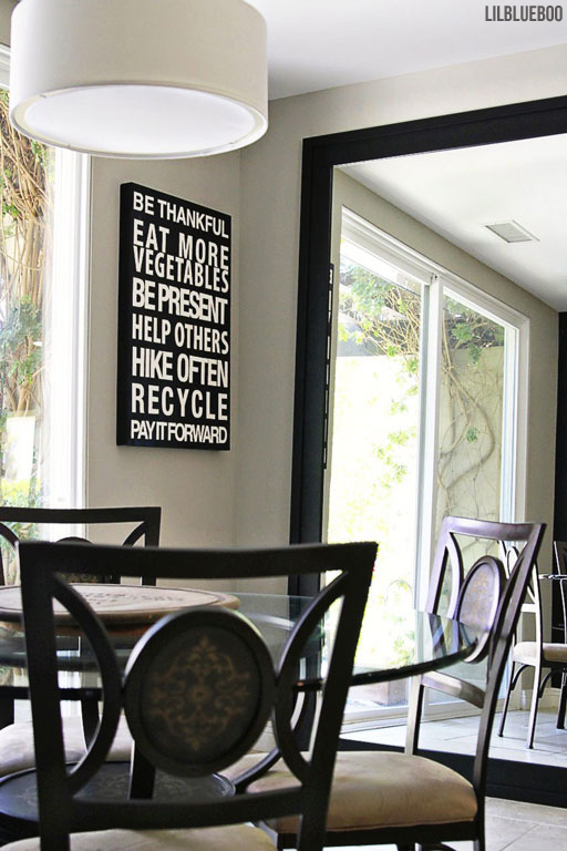 Kitchen Makeover / Renovation - DIY Oversized Wall Mirror by Ashley Hackshaw / Lil Blue Boo via lilblueboo.com