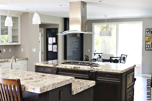 Kitchen makeover ideas: A view of the kitchen islands