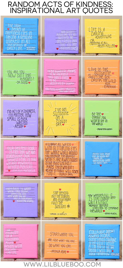 random acts of kindness quotes (our 2014 random act of kindness project) #raok  via lilblueboo Ashley Hackshaw