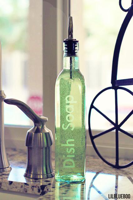 Etched DIY Soap Dispenser by Ashley Hackshaw / Lil Blue Boo via lilblueboo.com