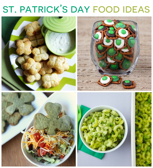 St. Patrick's Day Food Ideas via Ashley Hackshaw / lilblueboo.com #stpatricksday #green #partyfood