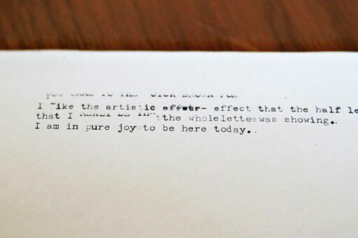 Vintage Typewriter test pages (Type In 2014 Rancho Mirage Library) via Ashley Hackshaw / Lil Blue Boo