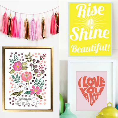 wall art prints for big girls room - Ashley Hackshaw / Lil Blue Boo