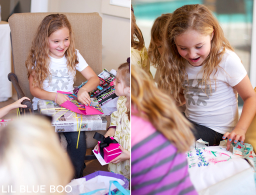Present time: Frozen Winter Snowflake Birthday Party via Ashley Hackshaw / lilblueboo.com #frozen