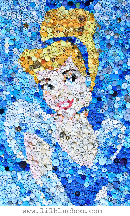 Cinderella button Collage by Lil Blue Boo / Ashley Hackshaw