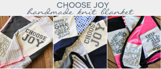 Handmade Patchwork Lil Blue Boo Blanket - Choose Joy