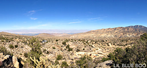 View of Palm Desert from Pinyon Crest Windsock