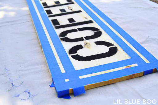 Using painters tape to create a painted border