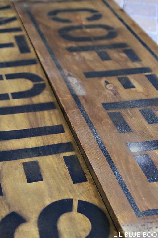 DIY antique and distressed sign tutorial via lilblueboo.com