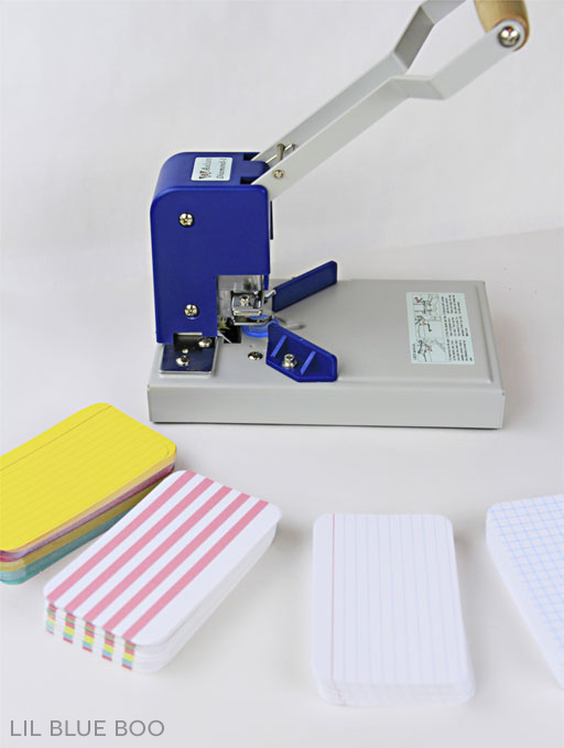 Round Corner Index Cards DIY  - for index card albums and scrapbooking