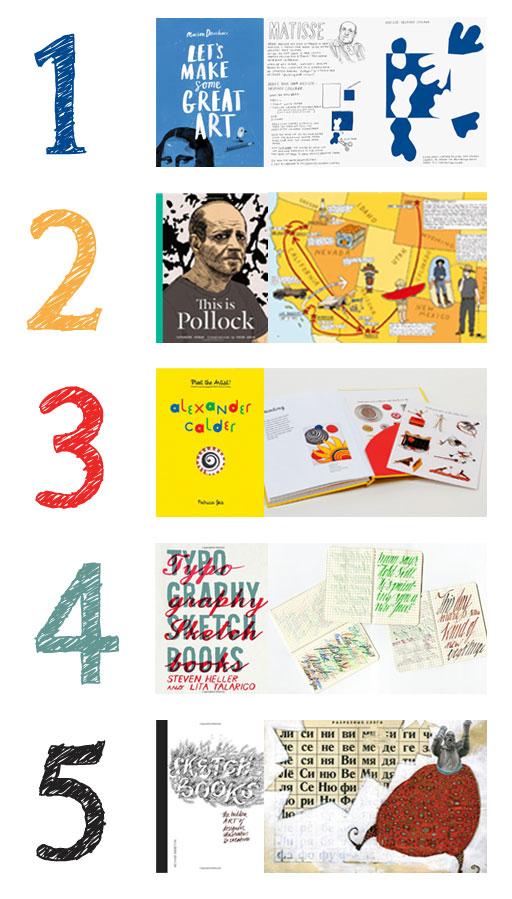 5 Creatively Cool Art Books via Lil Blue Boo / Ashley Hackshaw