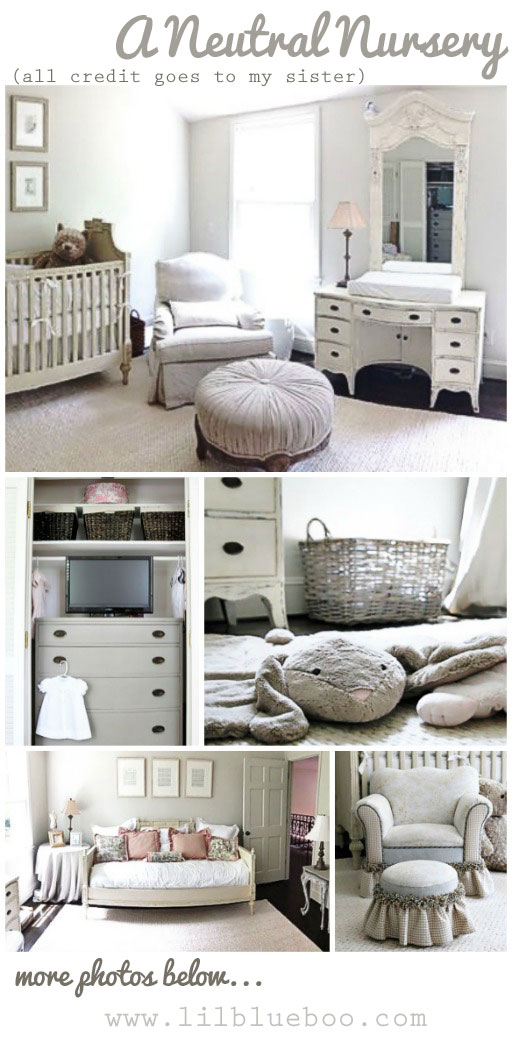 A Neutral Nursery - Neutral Nursery Decor and Ideas - Click through for paint colors and details #diy #nursery #nurserydecor #baby