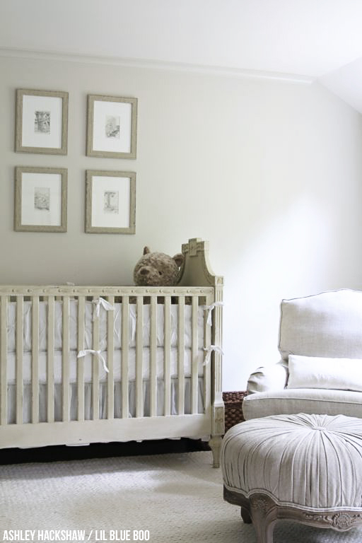 Neutral Nursery Wall Colors - Restoration Hardware Inspired - Edgecomb Gray from Benjamin Moore