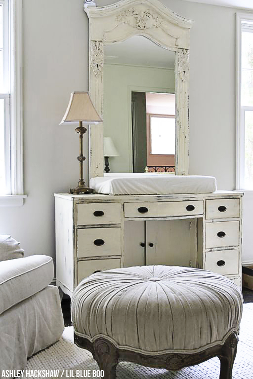 A Neutral Nursery - using Annie Sloan Chalk Paint - Old White
