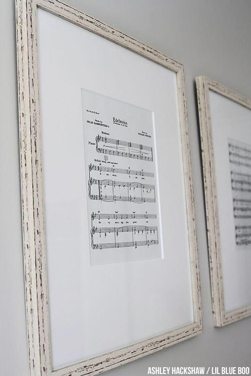 Nursery Wall Decor Ideas DIY - Print off Sheet Music - Edelweiss