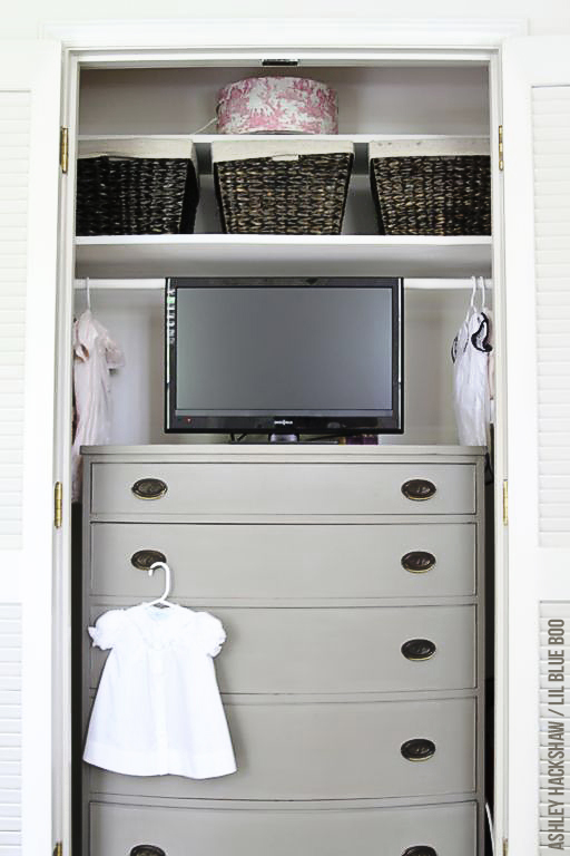 Nursery Closet Organization - Annie Sloan Chalk Paint - Paris Gray