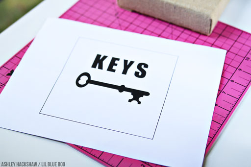 Key Template for Key Holder