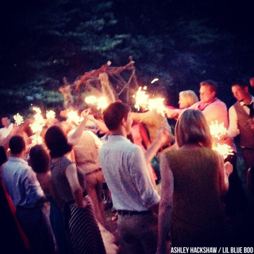 Wedding reception sparklers - Hemlock Inn, Bryson City NC - Smoky Mountains #wedding #rusticwedding