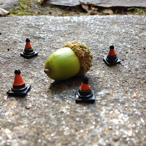 acorns and cones