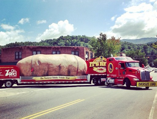 A Giant Potato on Everett Street in Bryson City, The Idaho Potato Tour