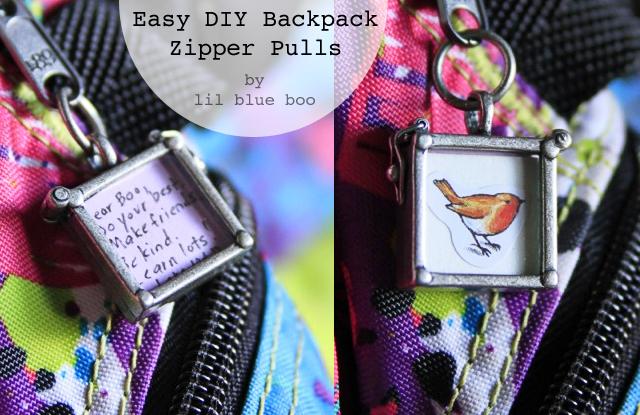 Easy DIY Backpack Zipper Pulls