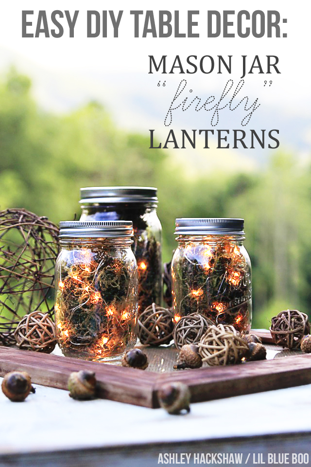 Fall Table Decor Mason Jar Firefly Lanterns