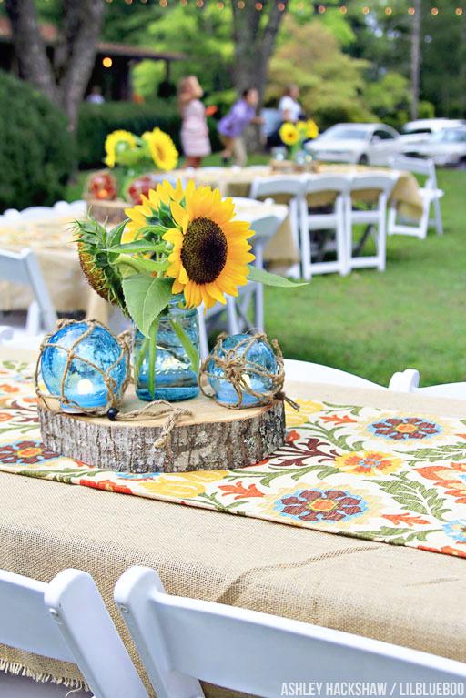 sunflower table decor ideas wedding rehearsal dinner