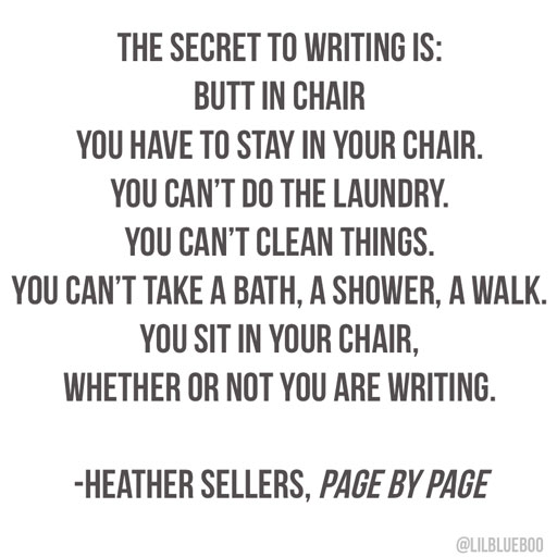 The secret to writing, books on writing