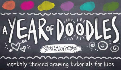 A Year of Doodles by Stephanie Corfee - Kids activity #artjournaling